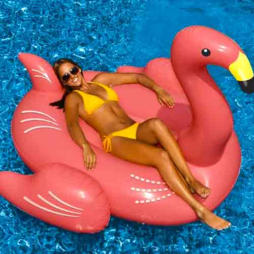 Swimline Giant Flamingo Ride-On